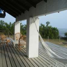 Deck con vista al mar