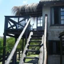 Escalera a balcón