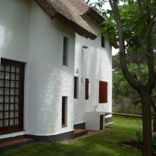 Vista posterior de la propiedad
