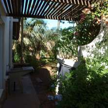 Jardín y lavadero