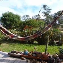 Deck hacia el jardín