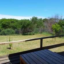 Deck vista al jardín