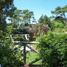 Vistas al jardín desde Terraza Balcón