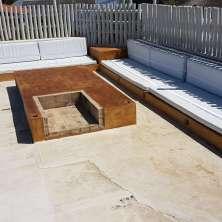 Terraza con fogón y zona chill out