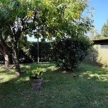 Jardín trasero y depósito