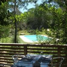 Vistas del restaurant a piscina